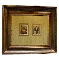 Ras Al Khaima Stamps Degas Toulouse Latrec Framed