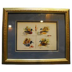 Robert A Fleming Decoys For All Seasons Watercolor Print Framed