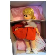 Madame Alexander Cheerleader 304 NIB Vintage 8 IN Miniature Showcase