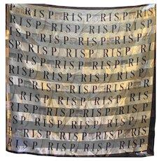 J Mico Sancho Paris Souvenir Scarf Brown Satin Stripe