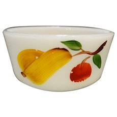 Gay Fad Fruit Custard Fire King Milk Glass
