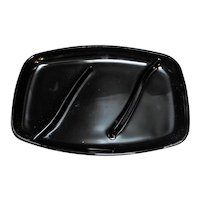 Tiara Exclusives Black Glass Divided Relish Tray
