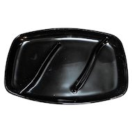 Tiara Exclusives Black Glass Divided Relish Tray