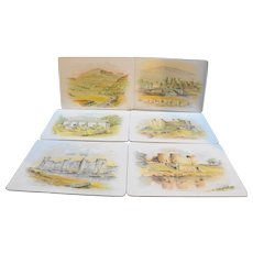 Pimpernel British Castles Placemats Set of 6 Celluware Cork Back