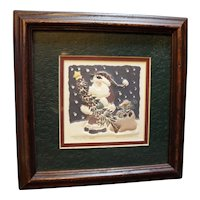 Bag of Toys Santa Christmas Limited Edition Paper Art Framed Diane Erickson 1997