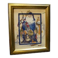 Peggy Abrams Making Spirits Bright Framed Christmas Art Print Santa