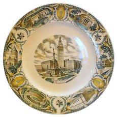 Cleveland Souvenir Plate Multicolor Salem China Ohio