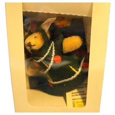 Steiff Evergreen Ornament Teddy Christmas Tree EAN 665417 12 CM 1997 L Ed 4000