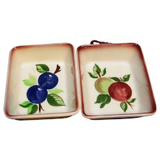 Decora Hand Painted California Fruit Rectangle Bowls Wall Hanging