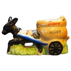 Occupied Japan Donkey Pulling Toilet Cart John's Ashes