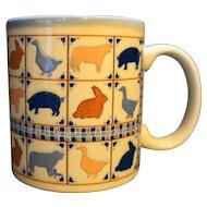 Otagiri Japan Farm Animals Mug Jill Garber Hand Painted