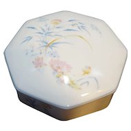 Leclair LEC Limoges Porcelain Wildflowers Trinket Box