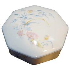 Leclair LEC Limoges Porcelain Wildflowers Trinket Box