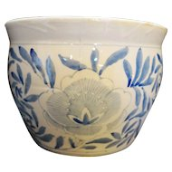 Blue White Hand Painted Porcelain Large Jardiniere Flower Pot China
