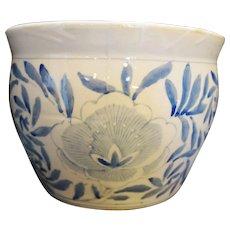 Blue White Hand Painted Porcelain Large Jardiniere Flower Pot China