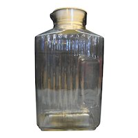 Anchor Hocking Ribbed Glass Refrigerator Carafe Water Bottle