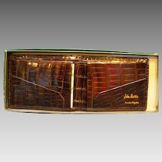 Genuine Alligator Bifold Wallet New Old Stock Cameo