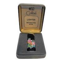 Colibri Electro-Quartz Lighter Floral Roses Presentation Box