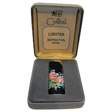 Colibri Electro-Quartz Lighter Floral Roses Presentation Box