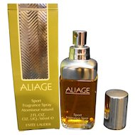 Aliage Sport Fragrance Spray Estee Lauder 2 OZ New Old Stock