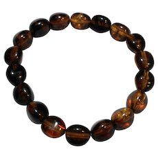 Baltic Amber Bracelet Oval Beads