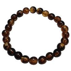 Baltic Amber Bracelet Round Beads