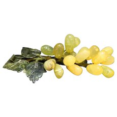 Chinese Jade Grapes Grape Cluster Pale Celadon Green