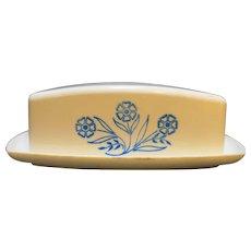 Cornflower White Plastic Butter Dish Corelle Corning