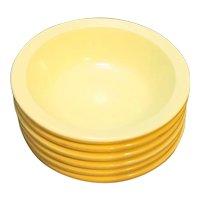 GPL Canada Melmac Yellow Ice Cream Sauce Dishes Set of 6