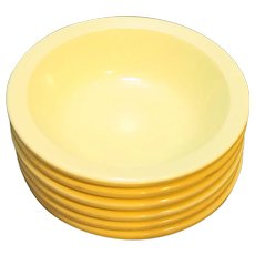 GPL Canada Melmac Yellow Ice Cream Sauce Dishes Set of 6