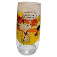 Camp Snoopy Peanuts Civilization Is Overrated McDonald's Glass