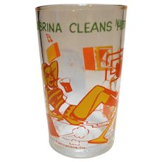 Sabrina Cleans Her Room Archie Comics Jelly Glass Welch's 1971