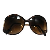 Sunglasses 1980s Faux Tortoise Taiwan