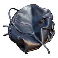 Navy Blue Valerie Barad Clutch Shoulder Bag Slouchy