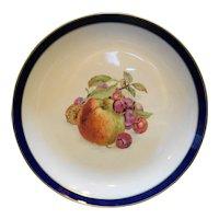 Schumann Arzberg Bavaria Echt Cobalt Bountiful Apple Center Chop Plate