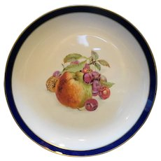 Schumann Arzberg Bavaria Echt Cobalt Bountiful Apple Center Chop Plate