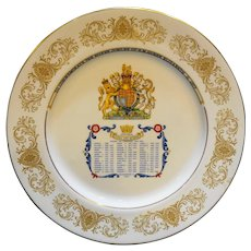 Aynsley Silver Jubilee Queen Elizabeth II Englands Kings and Queens Plate