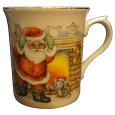 Santa Claus Christmas Mug Porcelain Japan