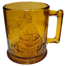 Tiara Exclusives Amber Glass Nursery Rhyme Childrens Mug Humpty Dumpty Tom Tom