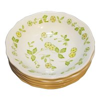 Petite Flora Ironstone Sears Japan Cereal Salad Bowls Set of 5