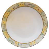 Tressemanes & Vogt T&V France Limoges Hand Painted Art Nouveau Yellow Flowers Daisies Rim Plate 9 IN