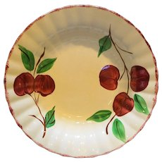 Blue Ridge Southern Pottery Hand Painted Crab Apples Red Trim Round Vegetable Bowl
