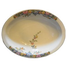 Hutschenreuther Selb Bavaria Oval Vegetable Bowl Floral Rim