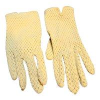 Ecru Nylon Knit Ladies' Gloves Japan