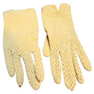 Ecru Nylon Knit Ladies' Gloves Japan