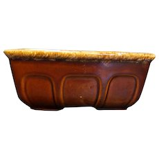 Hull Brown Drip Rectangle Planter F469