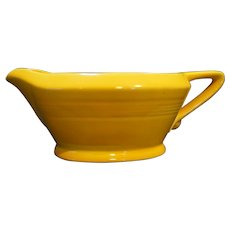 Homer Laughlin Harlequin Yellow Gravy Boat