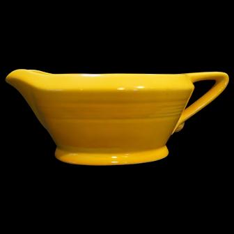Homer Laughlin Harlequin Yellow Gravy Boat