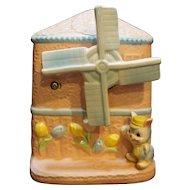 Napco Windmill Music Box Nursery Baby Planter