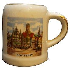 Reutter Porzellan Germany Stuttgart Mini Stein Souvenir